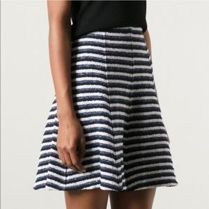 Theory Aline Boucle Skirt Striped